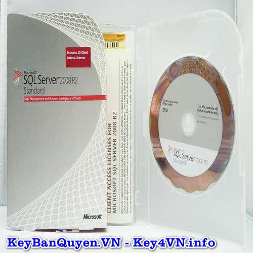 Mua bán key bản quyền SQL Server 208 R2 Standard.