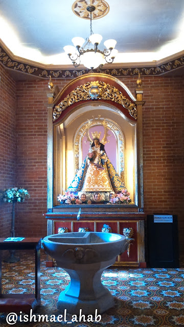 The baptistry featuring the image of Our Lady of the Abandoned in Our Lady of the Abandoned Church in Marikina CIty