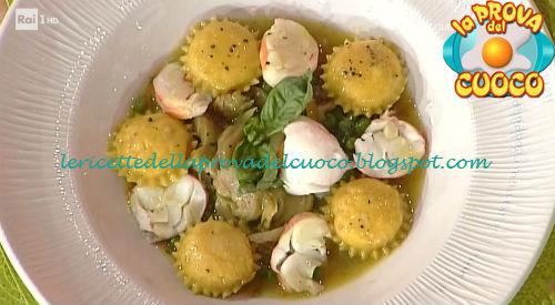 Ravioli ripieni di aragosta con frittella siciliana ricetta Giunta da Prova del Cuoco