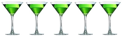 5 appletini glasses