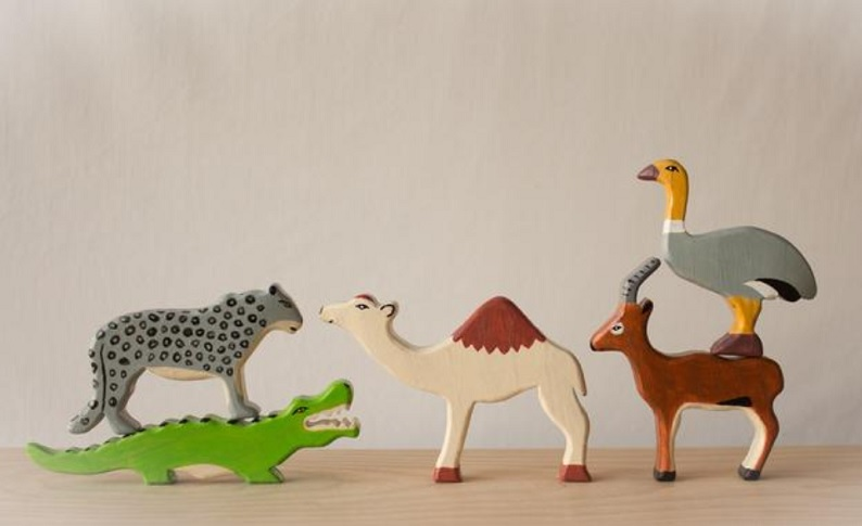 carvers lab etsy wooden toy animals