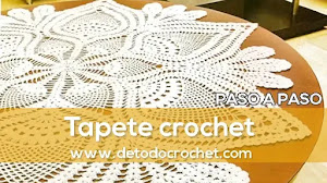 Centro de mesa tejido a crochet | Paso a paso