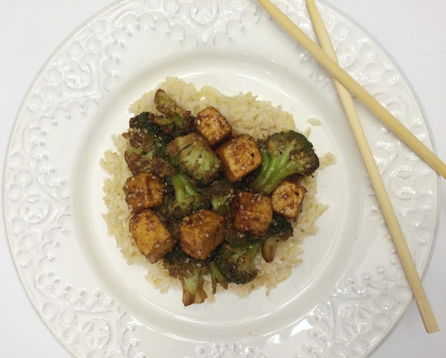 Pan Friend Sesame Tofu with Broccoli