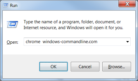 How to open chrome from command line
