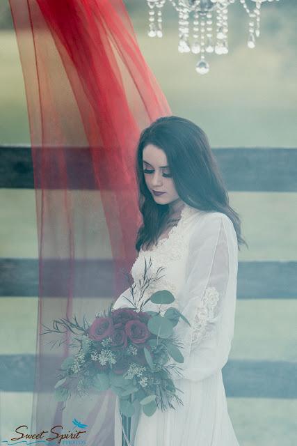 Halloween Inspired Wedding Makeup _ Red Weddings_On location Makeup _