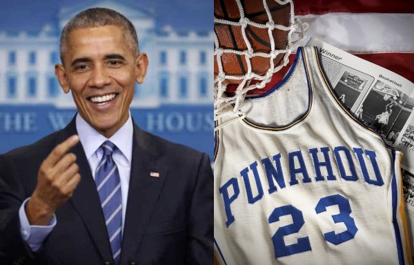Obama's basketball jersey sells for $120,000