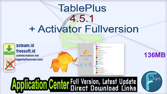 TablePlus 4.5.1 + Activator Fullversion