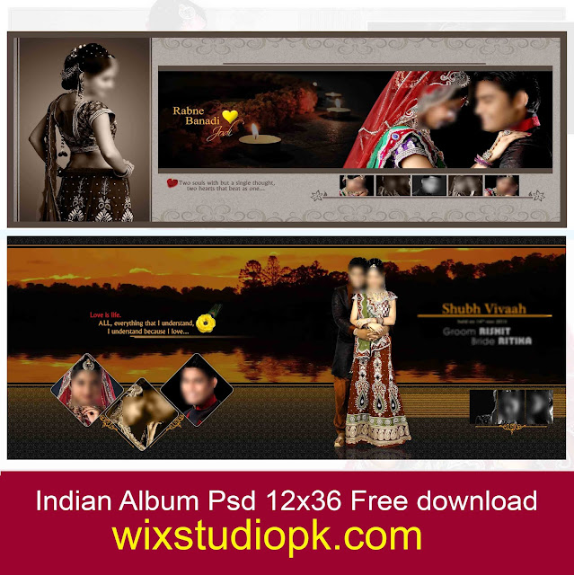 indian wedding Album Psd 12x36 Free Download wixstudiopk