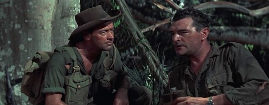 William Holden and Jack Hawkins