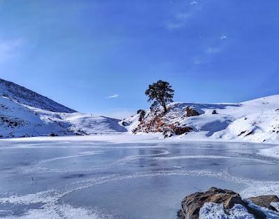 Frozen Brahmatal Lake