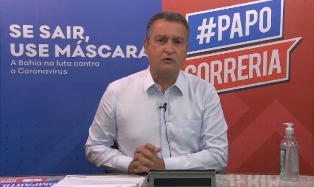 Quem descumprir o toque de recolher será indiciado criminalmente na Bahia, afirma governador