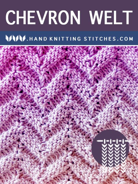 The Art of Hand Knitting - Chevron Welt Textured #Knitting Pattern.