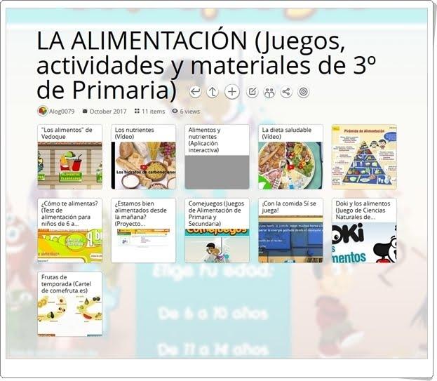 """""""11 Juegos, actividades y materiales para el estudio de LA ALIMENTACIÓN en 3º de Primaria"""""""