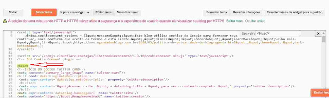 Tutorial feito no HTML do blog