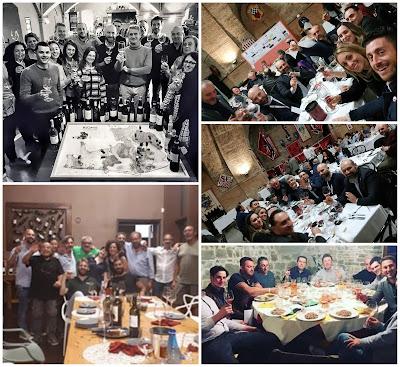 cena con produttori vino