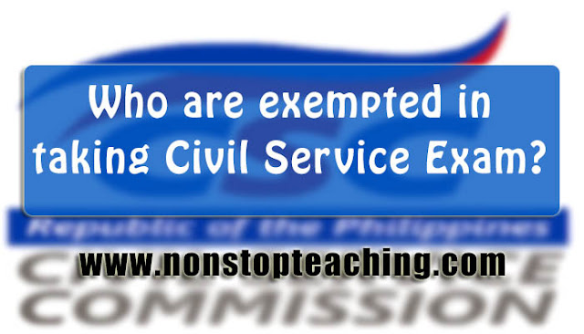 Civil Service Exam Complete Exemptions