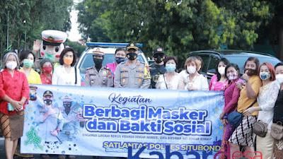 Memperingati Hari Kartini, Polres Situbondo Dan Komunitas Tionghoa Gelar Bakti Sosial