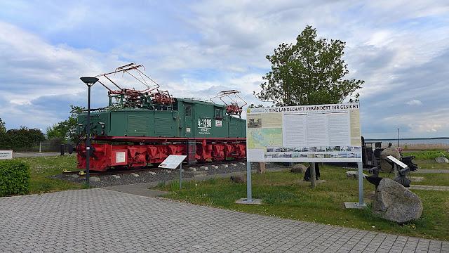 Diesellok am Goitzschesee bei Bitterfelf-Wolfen