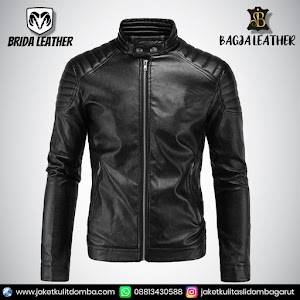 Jual Jaket Kulit Asli Garut Pria Domba Original Brida Leather B57   WA 08813430588