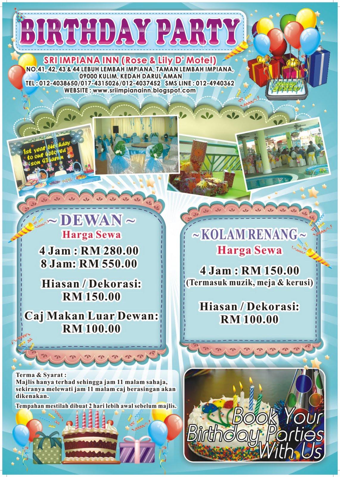 Hot Sapphire Catering Promosi Sambutan Hari Jadi