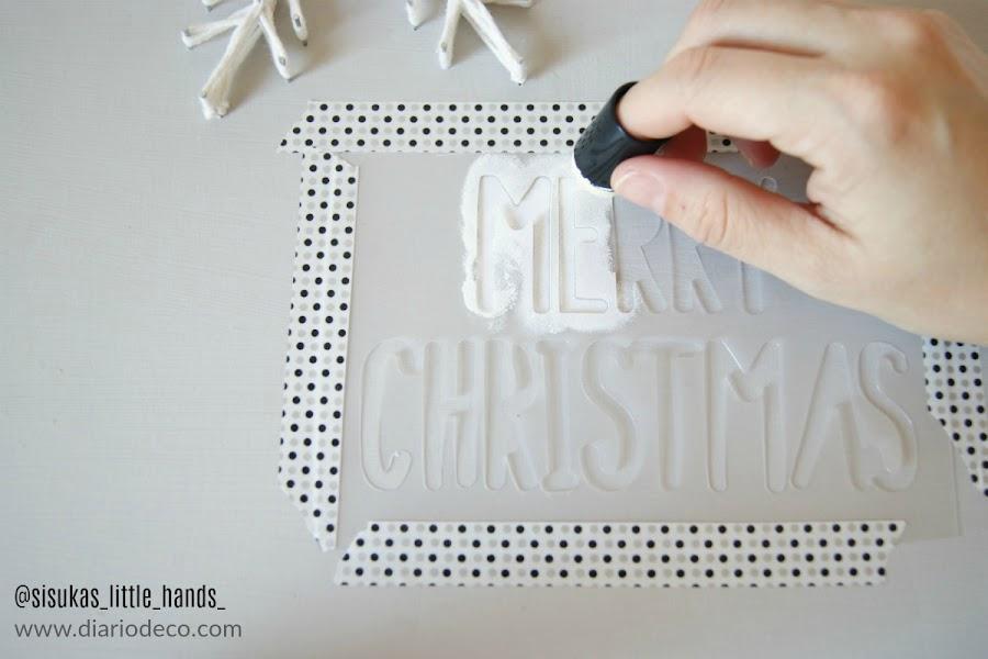 diy navidad para colgar en la pared