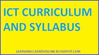 ICT SYLLABUS 2017 2018 2019 2020 PDF, ICT SYLLABUS 2019 PDF FOR B.ED FIRST YEAR