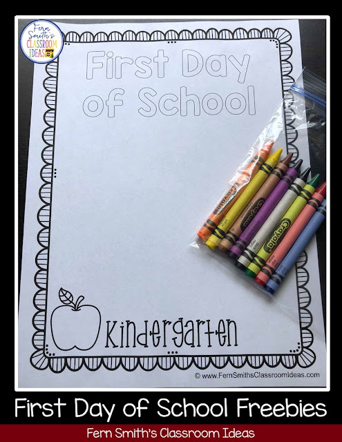 Free Back to School First Day and Last Day of School Coloring Pages for grades Pre-K to Fifth Grade from Fern Smith at #FernSmithsClassroomIdeas