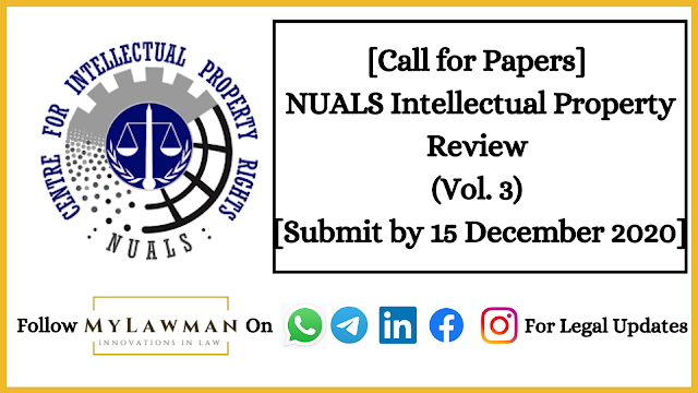 [Call for Papers] NUALS Intellectual Property Review (Vol. 3) [Submit by 15 December 2020]