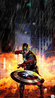 New Art Captain America Mobile HD Wallpaper