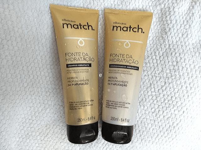 Shampoo e Condicionador Match - Fonte de Hidratação - O Boticário