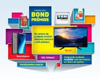 Cadastrar Promoção Tek Bond 2020 Bond Prêmios Tvs, Smartphones e Kits Tek Bond