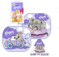 Logo Happy Pannolini : vinci gratis tendine parasole, adesivo auto e pacco pannolini