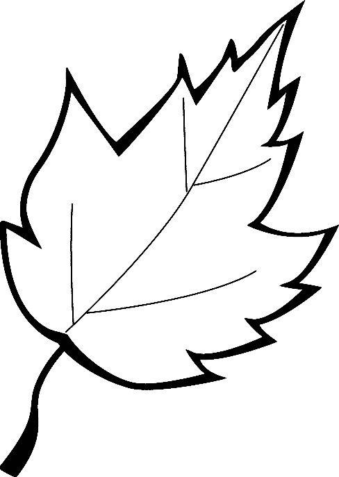 Hình tô màu chiếc lá cho trẻ em
