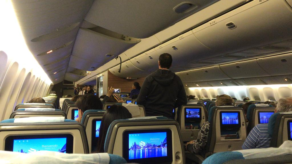visão dentro do avião