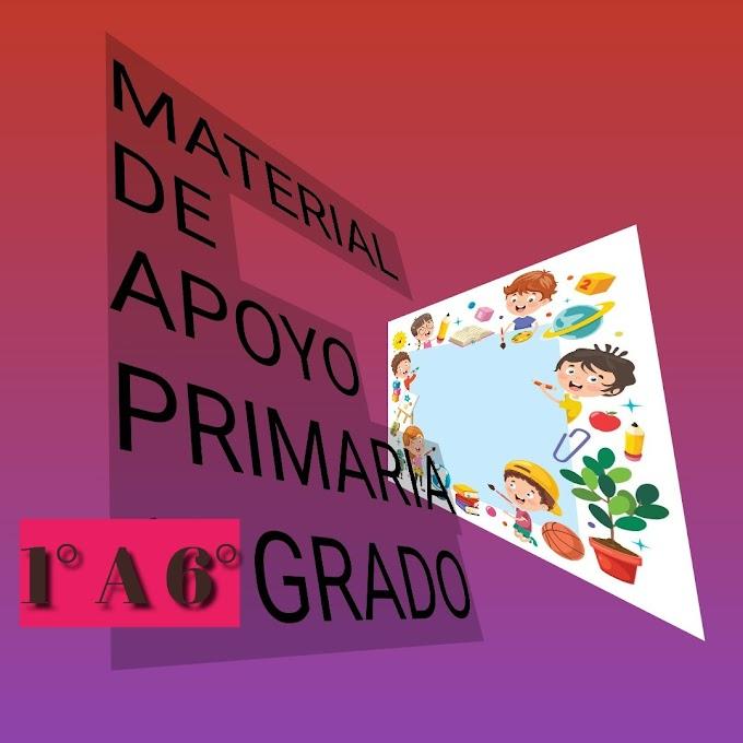 Material de Apoyo (Marzo-Abril) 1°,2°,3°,4°,5°,6° Primaria