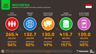 Statistik Pengguna Platform Digital di Indonesia