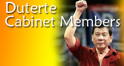 Duterte Cabinet Members