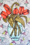 Pen and Ink Flower Drawings | Artmiabo