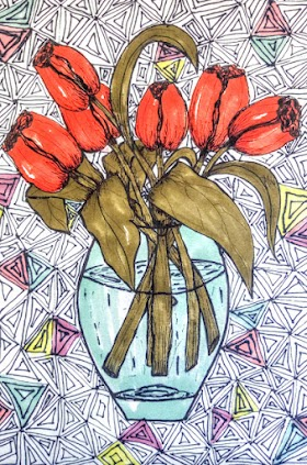 Pen and Ink Flower Drawings   Artmiabo