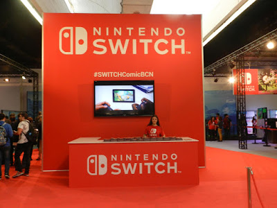 El stand de Nintendo era enorme.
