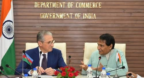 India-Azerbaijan sign protocol on trade and Economic Science and Technology Cooperation