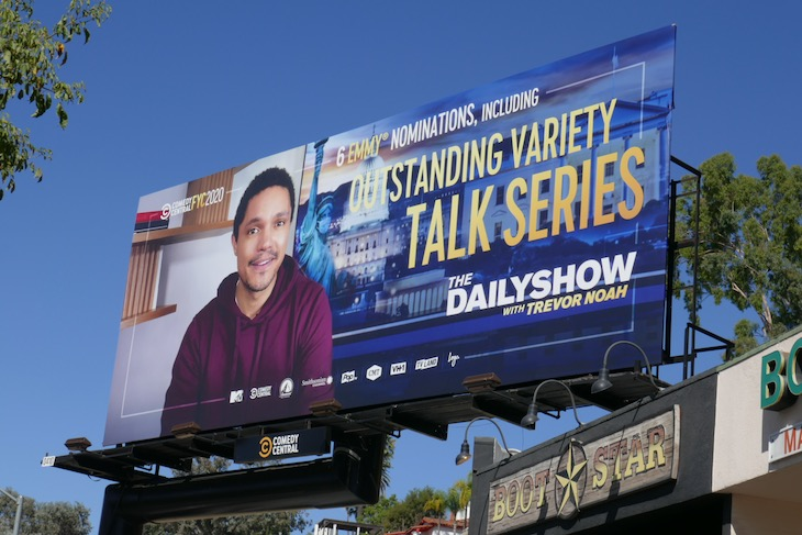 Trevor Noah 2020 Emmy nominee billboard