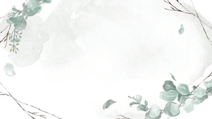Green elegant watercolor leaf slide backgrounds