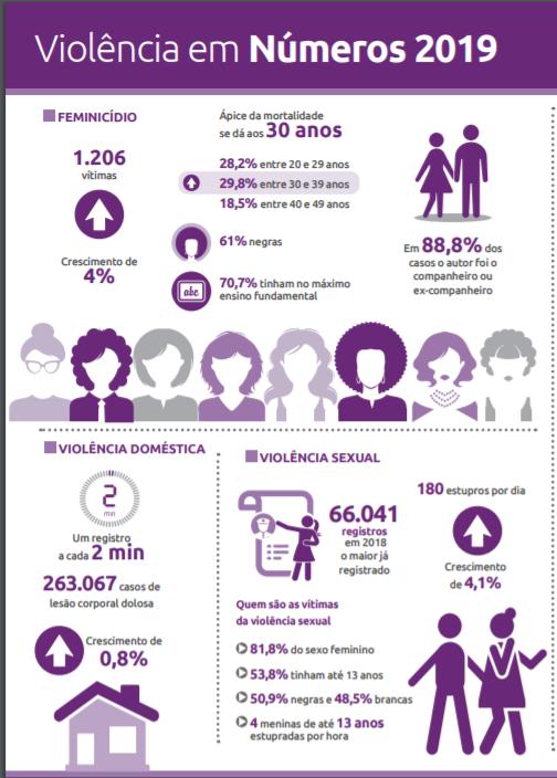 Dados dos estupros no Brasil