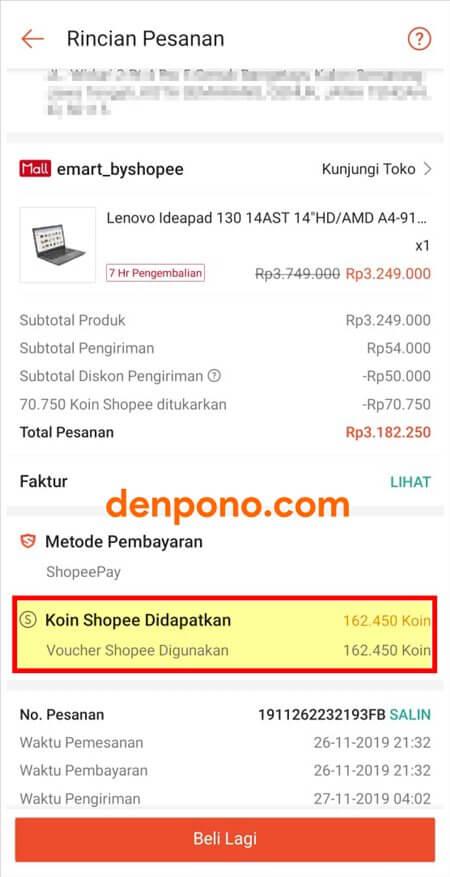 pengalaman beli laptop di shopee