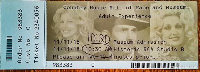 Nashville: ingresso para o Hall da Fama da Country Music e Studio B da RCA