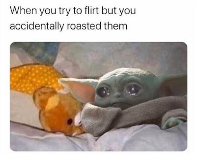 flirt memes, roast