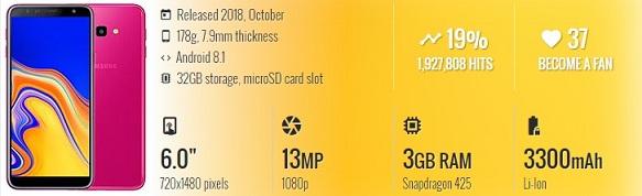 Spesifikasi lengkap dan review samsung J4 plus 2018 harga murah