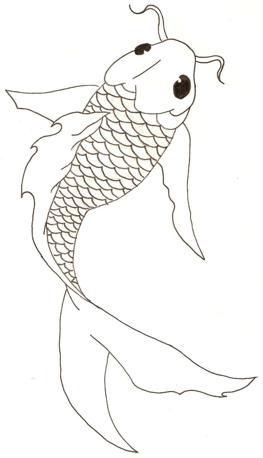 sketsa gambar ikan