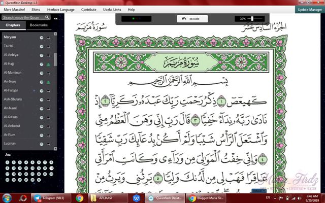 Quranflash - Software untuk baca al-Quran di PC/Laptop